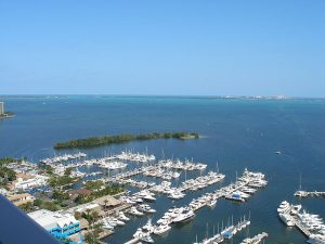 A_view_east_across_Biscayne_Bay_to_Key_Biscayne